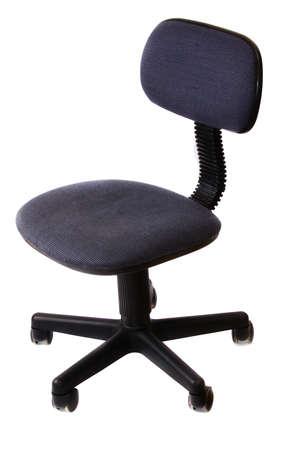 Basic Rolling Office Chair (dark Blue) Over White. Stock Photo   9851665
