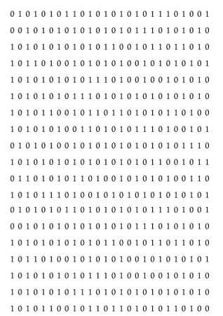 Black binary code on a white background photo