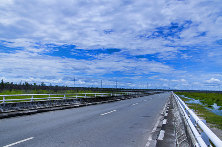 nusa: Tumbang Nusa Highway Stock Photo