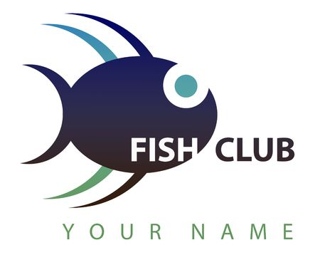 A logo suitable for a fish club: a nice blu fish