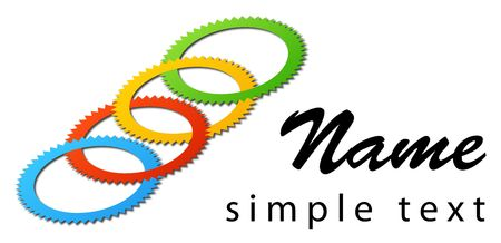 A business logo with bright colours