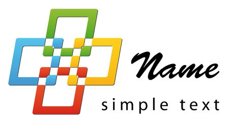 A business logo with four bright colours