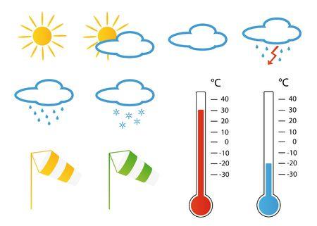 Symbols concerning wind & weather forecast photo