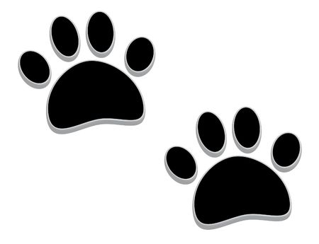A pair of tridimensional animal footprints