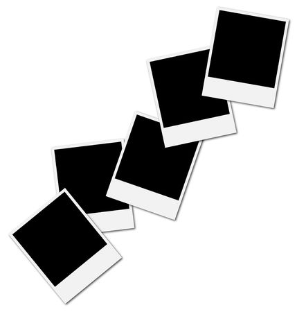 Five blank frames ready to insert photos and create a photo collage