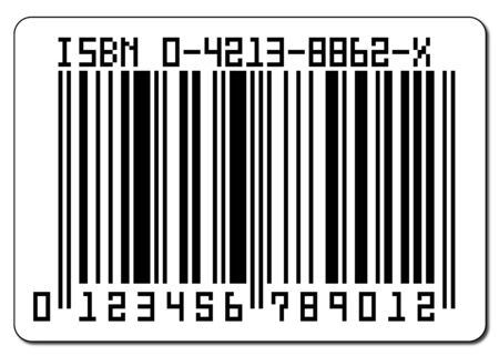 A barcode isolated on a white background Stock Photo