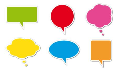 Colored comic balloons isolated on a white background