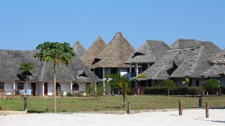 Bungalow resort in Zanzibar on a sunny day