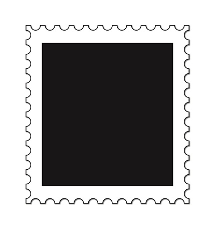 post stamp: An empty stamp isolated on a white background