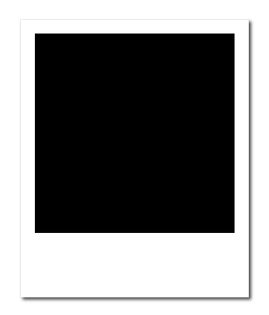 A Blank Polaroid Frame Ready To Insert A Photo Or To Create A