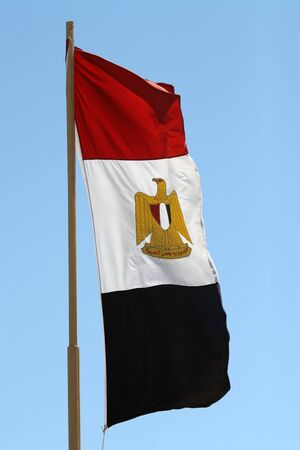 An Egyptian flag in the sky Stock Photo - 12994848