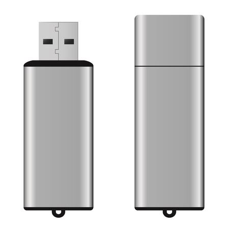 usb storage device: An isolated USB pen drive Stock Photo