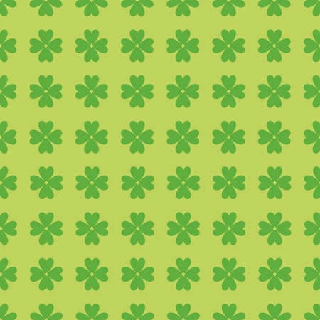 Simple and seamless green pattern with clover leaves