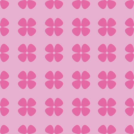 Simple and seamless pink pattern with flowers Stock Photo