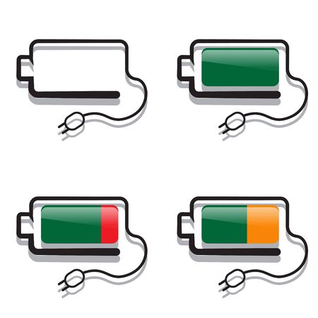 charges: four batteries with a creative view of charges