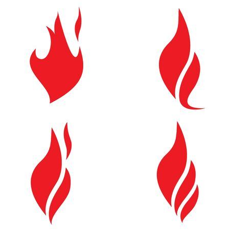 describing: four characters describing the fire on a white background