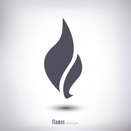 Design flame as a symbol of a shadow on a gray background
