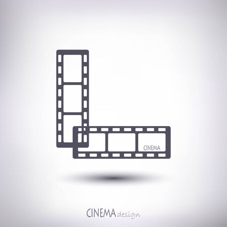 cinematographer: Linear film in an amount of two pieces of gray on a gray background