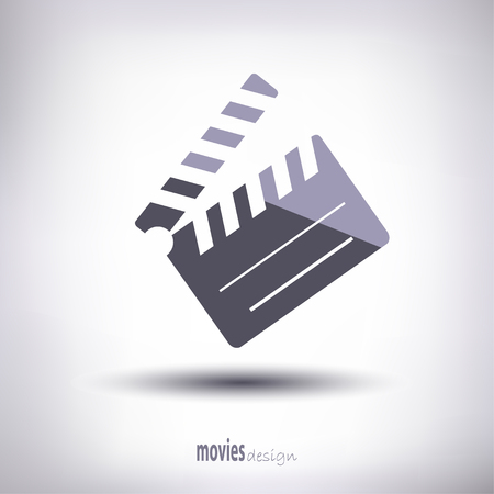 flapper: Flapper or enumerator. When shooting a movie. synchronization of the image. Gray shadow. Vectores