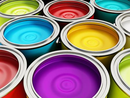 Pots de peinture Banque d'images - 29269399