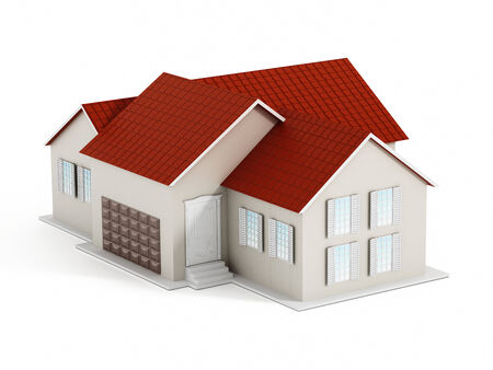 House isolated on white Stock Photo