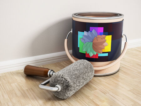 painting and decorating: Home decoration Stock Photo