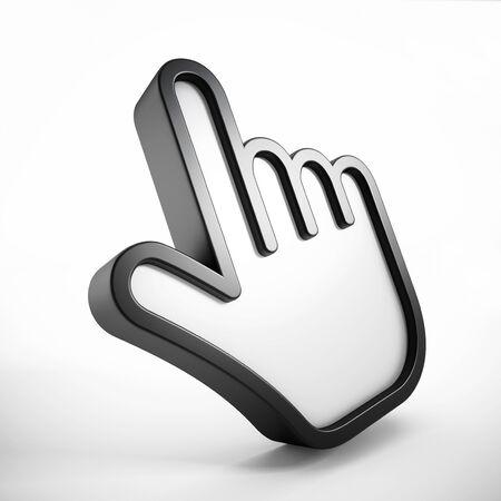 3d cursor: Hand cursor Stock Photo