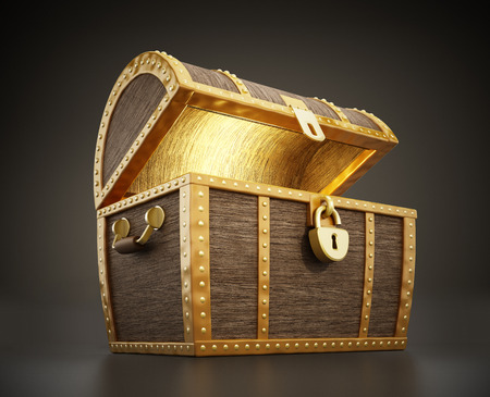 coin box: Glowing treasure chest full of treasures