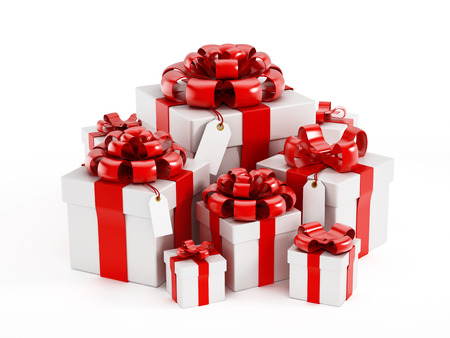giftboxes: Giftboxes isolated on white