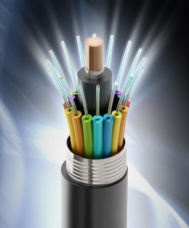 Fiber optical cable detail photo