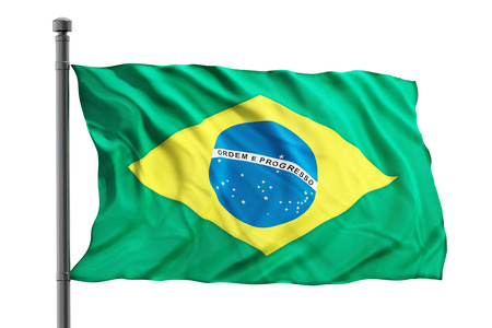 brazilian flag: Brazilian flag isolated on white background
