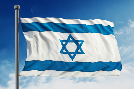 israeli: Flag of Israel Stock Photo