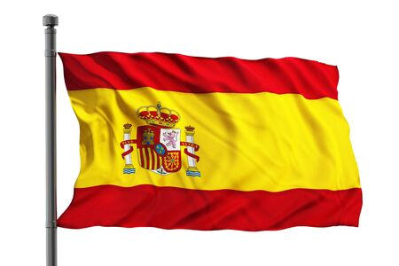 flag spain: Flag of spain isolated on white background