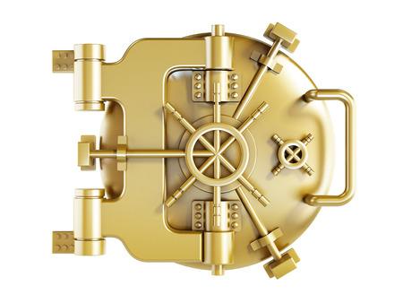 둥근 금속 은행 문