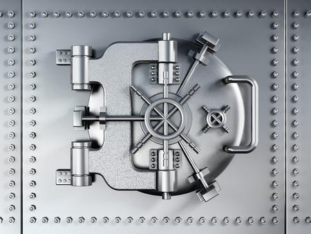 Vaulted metal bank door photo