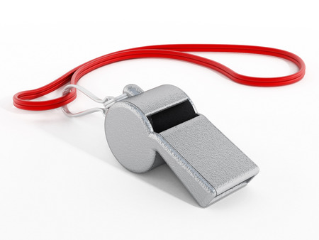 Whistle with red rope photo