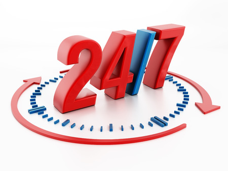 247 sign Stock Photo