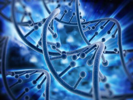 mutation: DNA strands background Stock Photo