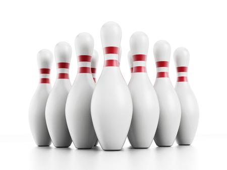 Contactos de bowling aislados sobre fondo blanco. Foto de archivo - 31399251
