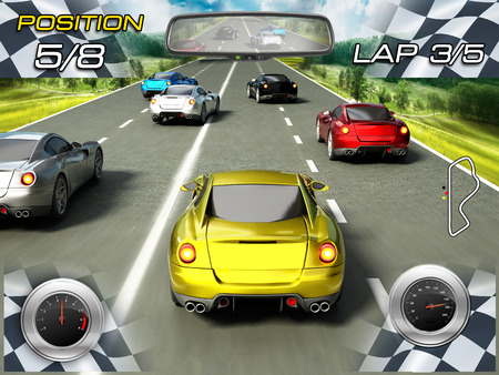 red sports car: Car racing video game