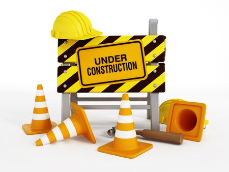 Under construction Banque d'images
