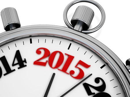 Countdown to new year 2015 concept.