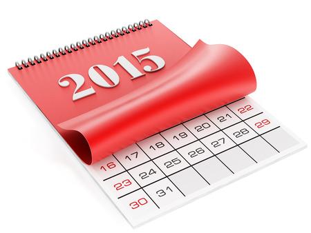 2015 calendar isolated on white. Stock Photo
