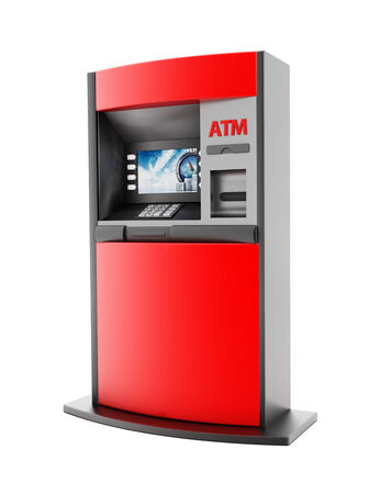 automated teller: ATM Automated Teller Machine detail. Stock Photo