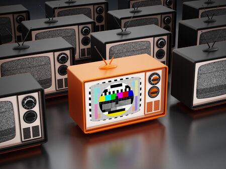 old fashioned tv: Vintage television