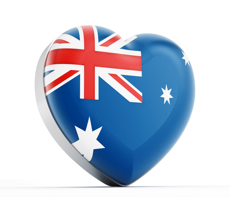 I love Australia heart shaped Australian flag. photo