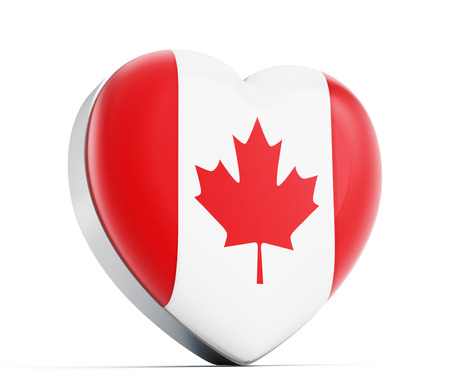 i love canada: I love Canada heart shaped Canadian flag.