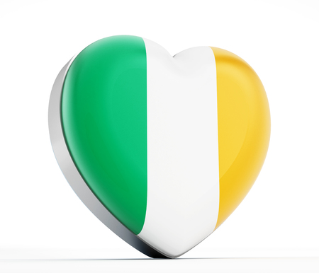 I love Ireland heart shaped Irish flag. photo