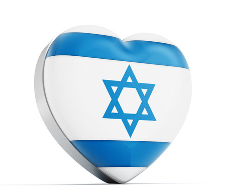 israeli: I love Israel heart shaped Israeli flag.