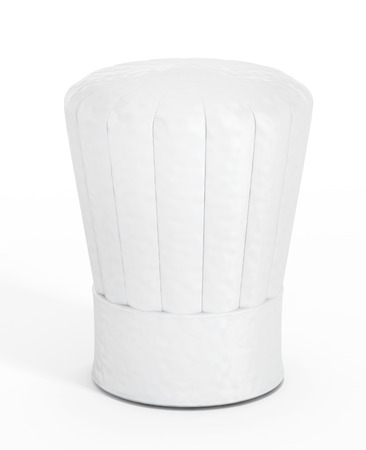 toque: Chefs hat isolated on white background.